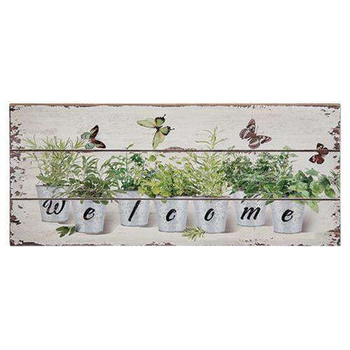 Floral Welcome Sign CHD Signs & Wall Accents CWI+