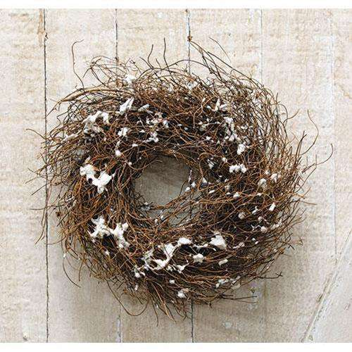 "Snowy Angel Hair Vine Wreath, 8"" - The Fox Decor"