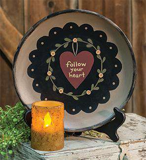 Follow your Heart Plate Wall Decor CWI+