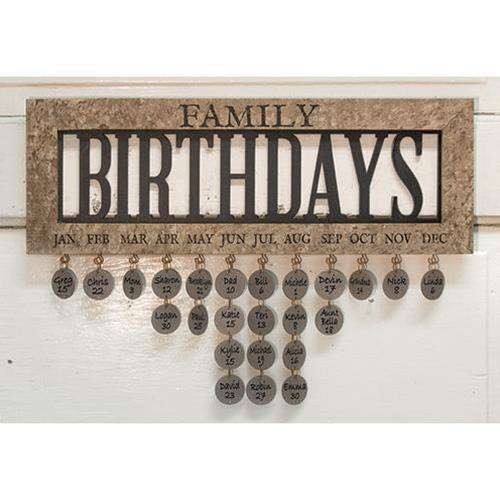 Framed Family Birthday Calendar Calendars CWI+