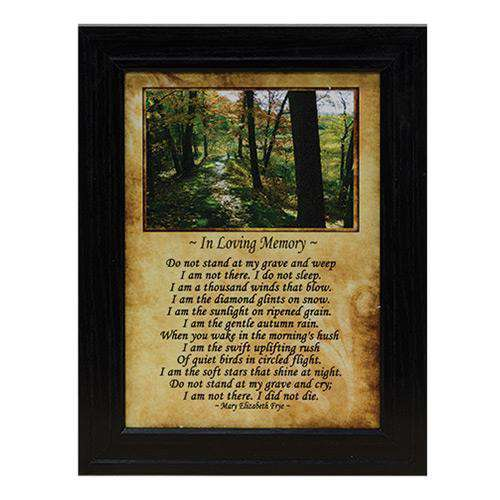Framed In Loving Memory Print Country Prints CWI+