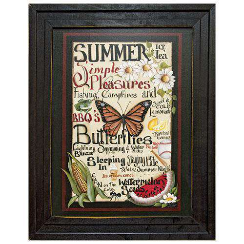 Framed Summer Words Summer Decor CWI+
