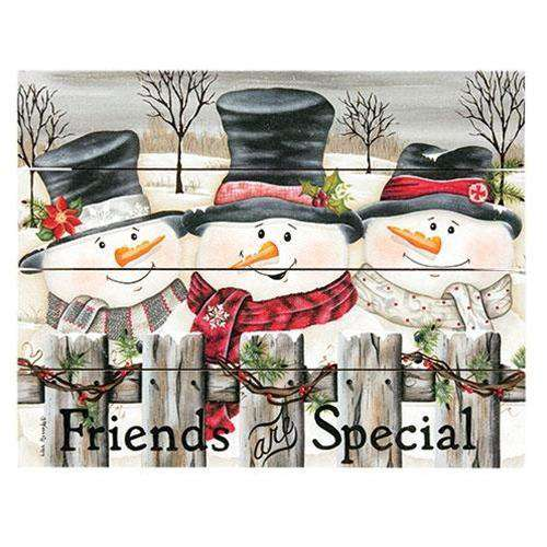"Friends Are Special Pallet Art, 9""x12"" Winter Signs CWI+"