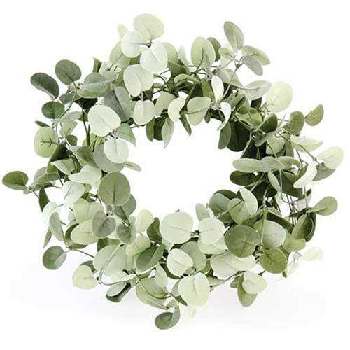 "Silver Drop Eucalyptus Wreath, 14"" - The Fox Decor"