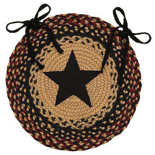 Blackberry Star Braided Chair Pad Set of 4 - The Fox Decor