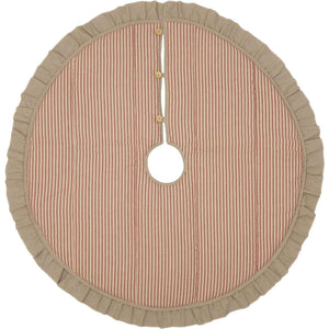 Sawyer Mill Red Ticking Stripe Christmas Tree Skirt 48 VHC Brands