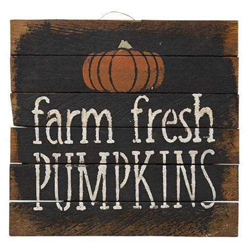 "Farm Fresh Pumpkins Sign, 9.5"" Square"
