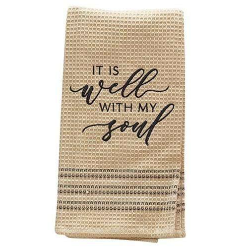 Well With My Soul Kitchen Dish Towel