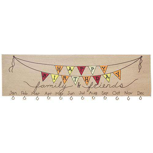 *Happy Birthday Calendar - The Fox Decor