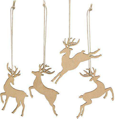 24/Box, Reindeer Ornaments - The Fox Decor