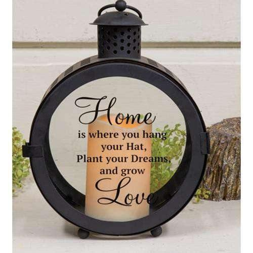 Round LED Sentiment Lantern love