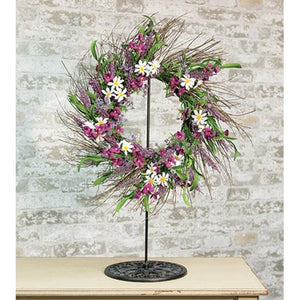 Black Metal Wreath Stand