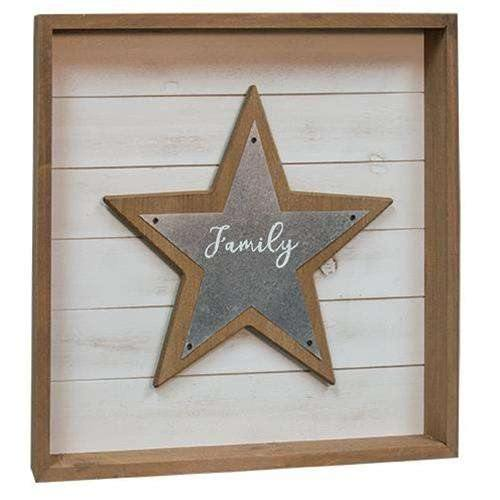 Family Star Shadowbox Sign