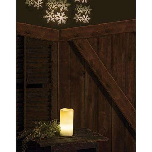 Remote Control Snowflake Projection Pillar