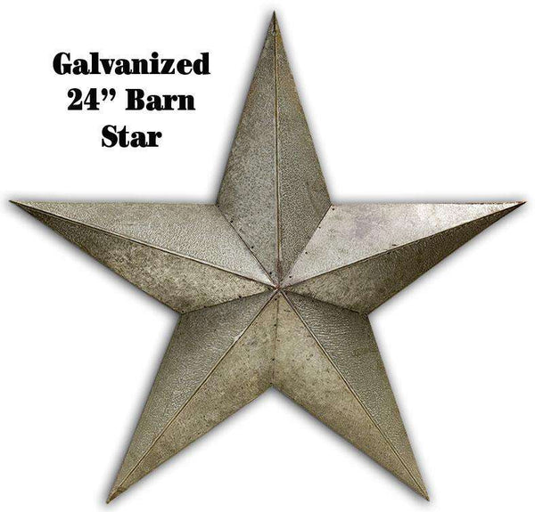 "Galvanized Barn Star - 24"" Metal Star Barn Stars CWI+"