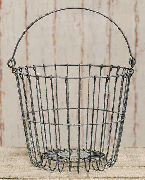 "Galvanized Egg Basket, 11"" Baskets CWI+"