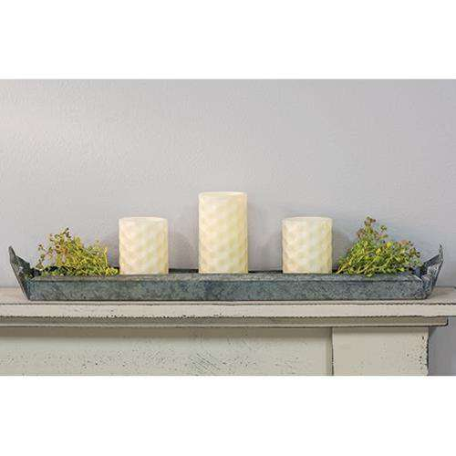Galvanized Metal Candle Tray/Trough tray CWI+