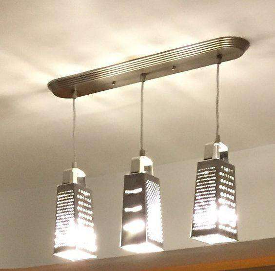 *Galvanized Metal Grater Light Fixture Lamps/Shades/Supplies CWI+