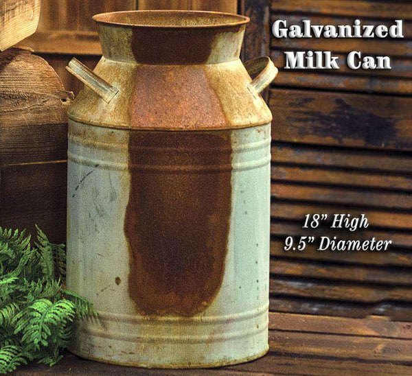 "Galvanized Milk Can - 18"" Buckets & Cans CWI+"