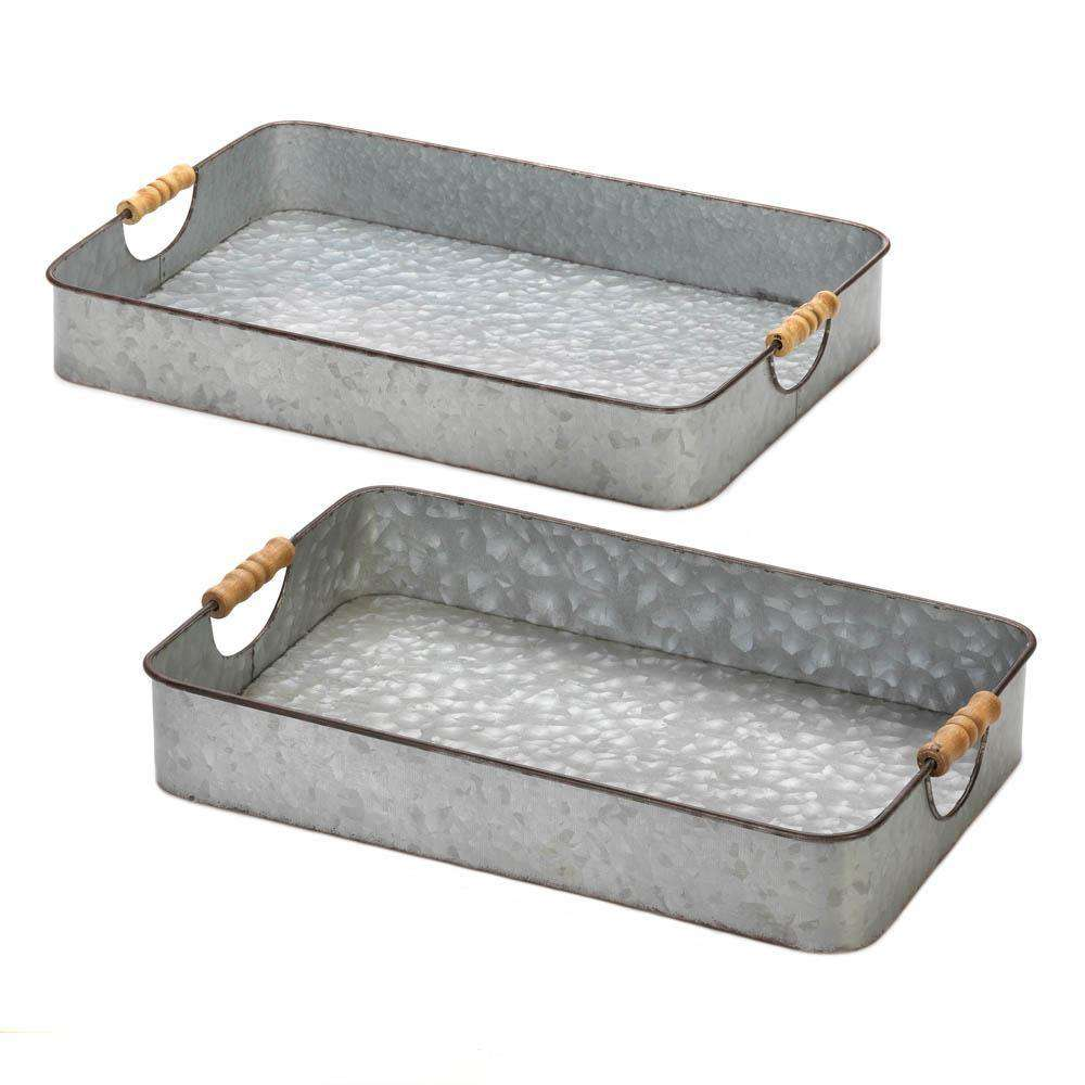 Galvanized Serving Trays