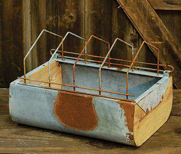 Galvanized Vintage Feeder Box HS Containers CWI+