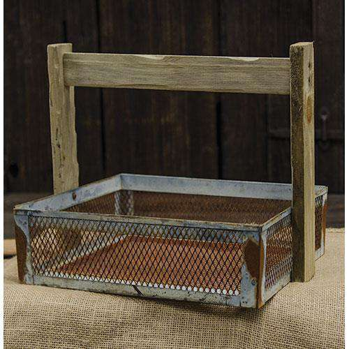 Galvanized Wire Basket w/Handle Baskets CWI+