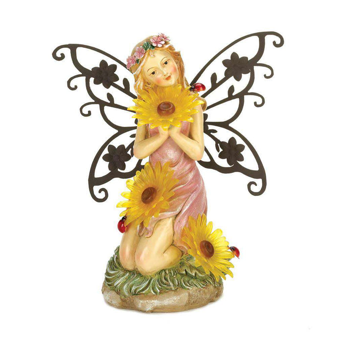 Garden Blooms Fairy Solar Statue Summerfield Terrace