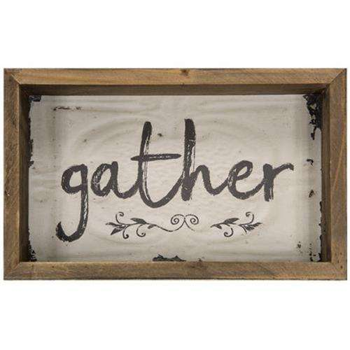 Gather Box Sign Tabletop CWI+
