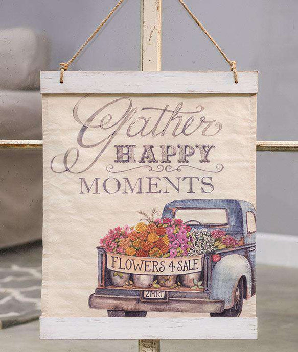 Gather Happy Moments Canvas Wall Hanger Canvas Wall Hanger CWI+