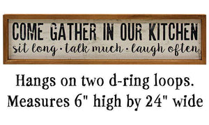 Gather in Our Kitchen Sign Kitchen Blocks & Signs CWI+