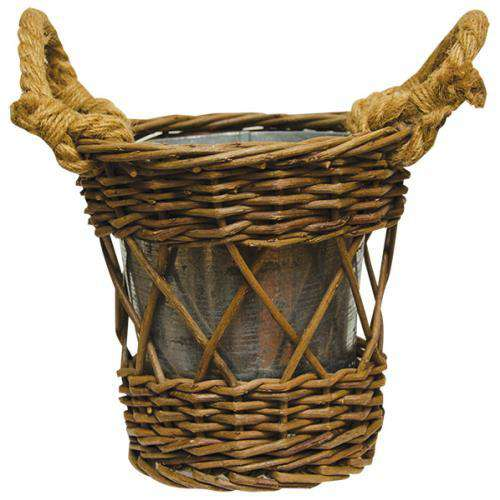 Willow Basket with Pot - The Fox Decor