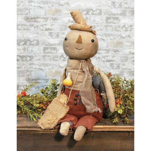 Billie Scarecrow Doll w/Crow - The Fox Decor