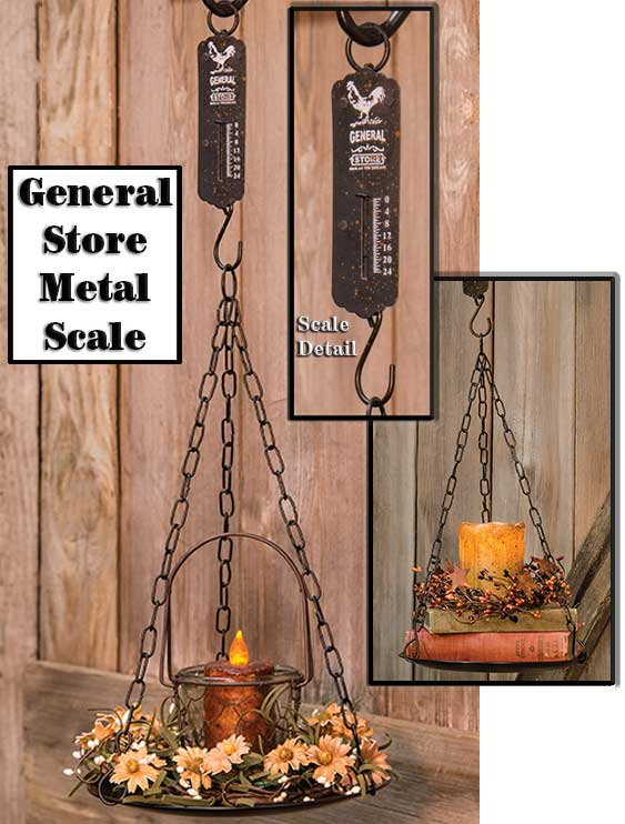 General Store Metal Scale Primitive Accents CWI+