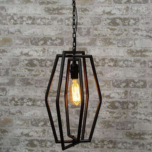 Geometrical Hanging Lamp, 2 Asstd. Lamps/Shades/Supplies CWI+