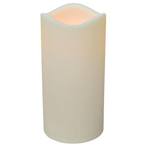 "6"" LED Timer Pillar Candle"