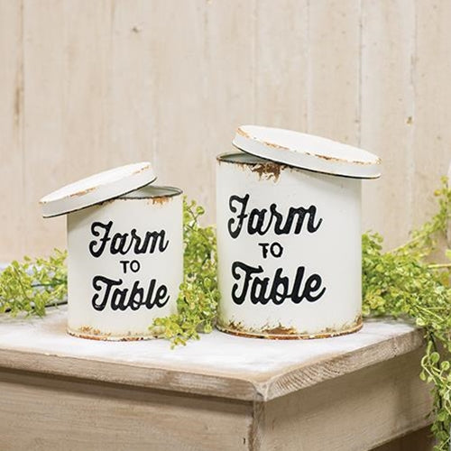 2/Set, Farm to Table Canisters