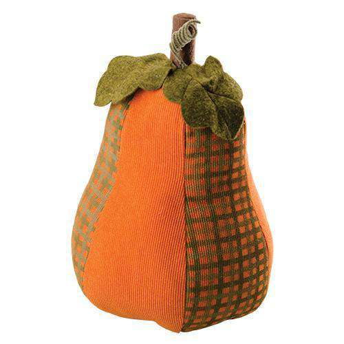 Gingham Pattern Pumpkin - Tall Tabletop & Decor CWI+