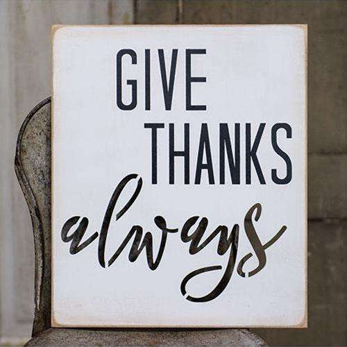 Give Thanks Always Wood Cutout Sign Pictures & Signs CWI+