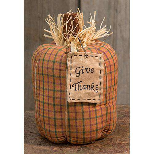 Give Thanks Pumpkin, 9x6 Tabletop & Decor CWI+