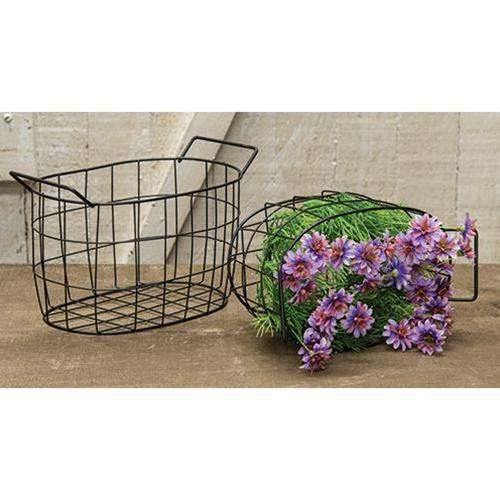 Black Wire Oval Basket, 7.5x5