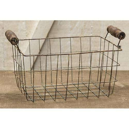 Rusty Wire Rectangle Basket, 8.5x6.25