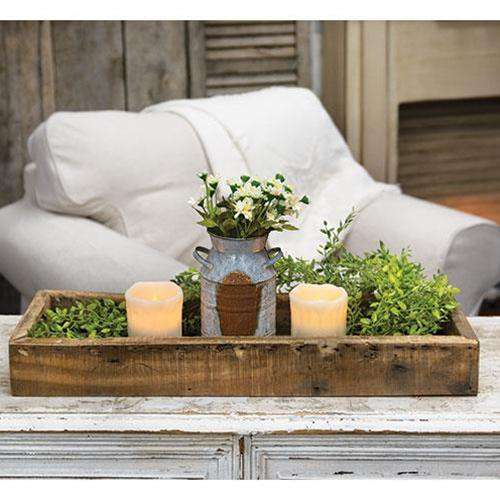 Weathered Wood Rectangle Tray