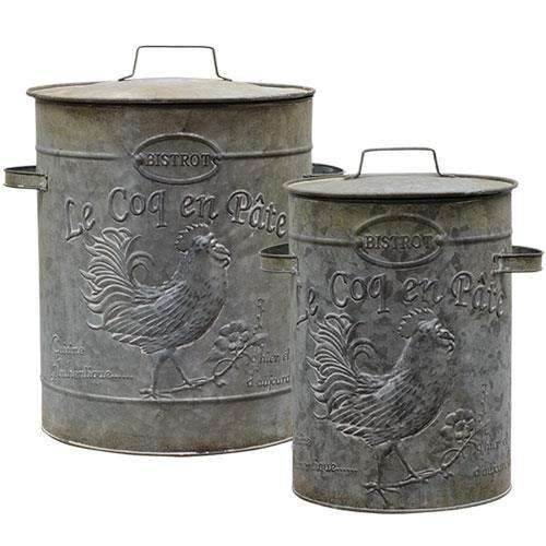 *2/Set - Metal Canisters