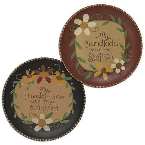 Grandchildren are Everything Plate, 2 Asstd. Plates & Holders CWI+