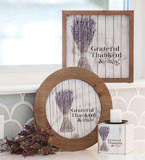 "Grateful Framed Shiplap Sign, 10"" Pictures & Signs CWI+"