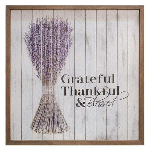 "Grateful Framed Shiplap Sign, 20"" Pictures & Signs CWI+"