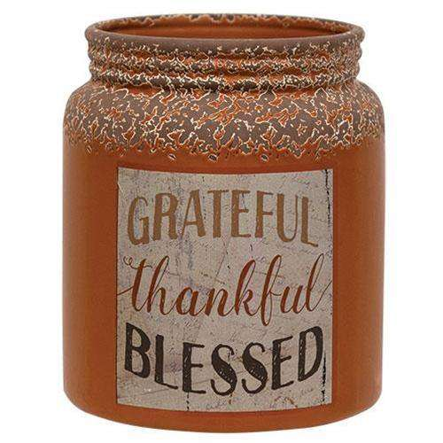 Grateful/Thankful/Blessed Crock Tabletop & Decor CWI+