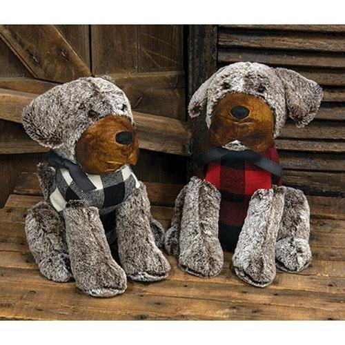 2/Set Plaid Dog Door Stopper
