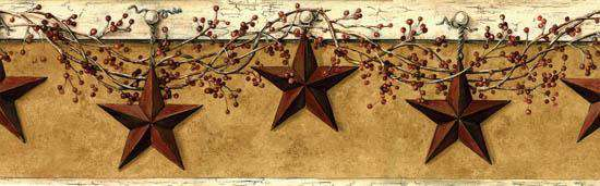 Hanging Star Wall Border Wallpaper Borders CWI+
