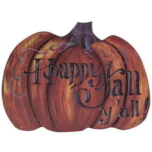 Happy Fall Y'all Pumpkin Hanger Wall CWI+